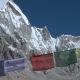 Prayer Flags Against the Background of the Everest - VideoHive Item for Sale