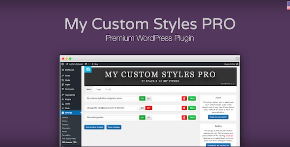My Custom Styles PRO - CodeCanyon Item for Sale