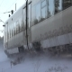 Passing Train in the Winter. Snowy Turbulence - VideoHive Item for Sale