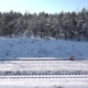 Worker Cleans Snow on Rail Station - VideoHive Item for Sale