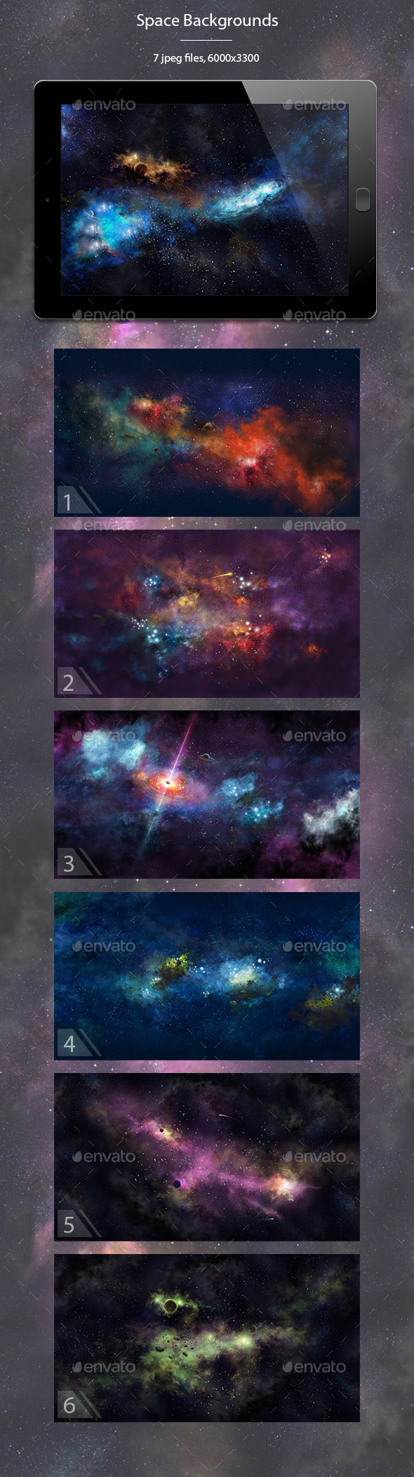 Space Backgrounds Illustrations - Abstract Backgrounds