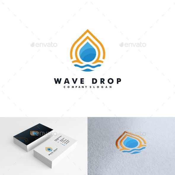 Water drop logo - Nature Logo Templates