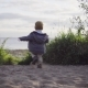 Child Running to the Sea - VideoHive Item for Sale
