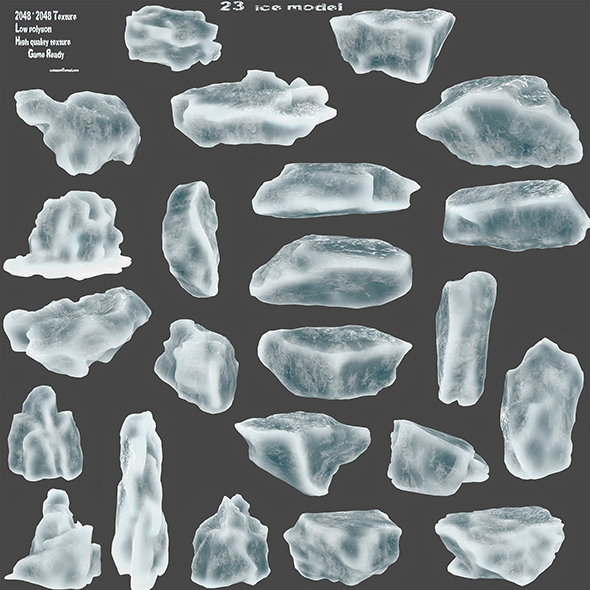 ice set - 3DOcean Item for Sale