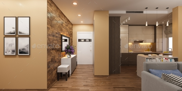 3d Illustration of a Panorama Interior - Architecture 3D Renders
