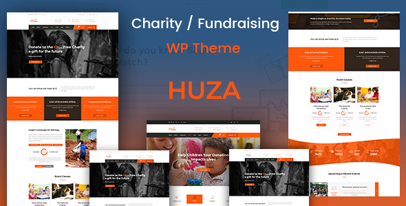Huza - Charity/Fundraising Responsive WordPress Theme