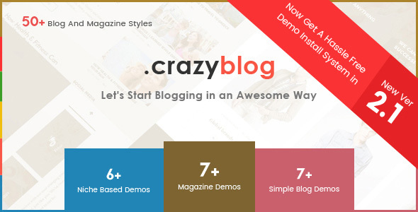 CrazyBlog - Start A Blog or Magazine for Adsense or Affiliate Business - Blog / Magazine WordPress
