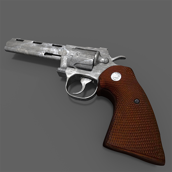 Revolver Colt Python - 3DOcean Item for Sale