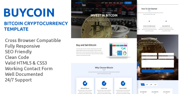 BuyCoin – Bitcoin And Cryptocurrency HTML Template | MasterTemplate