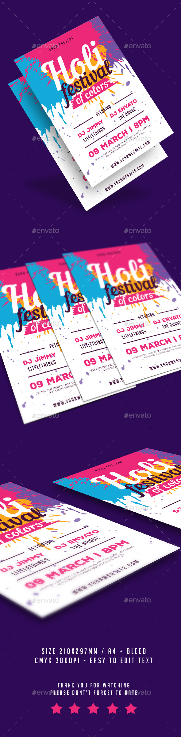 Holi Festival of ColorsFlyer - Events Flyers