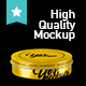 Round Tin Case Mockup - vol 2