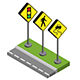 Flat and Isometric Road Signs - GraphicRiver Item for Sale