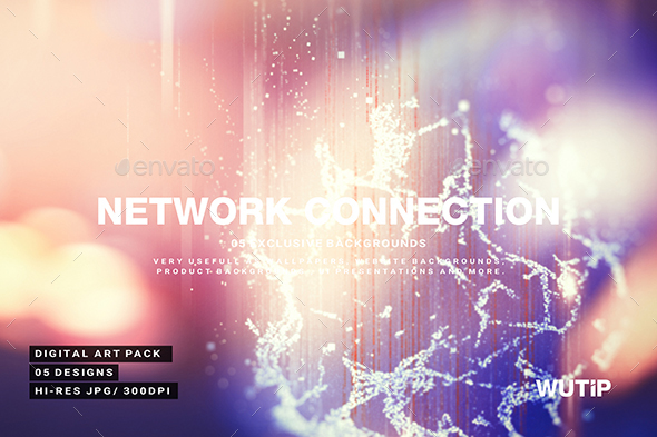Abstract Network Connection Background - Abstract Backgrounds