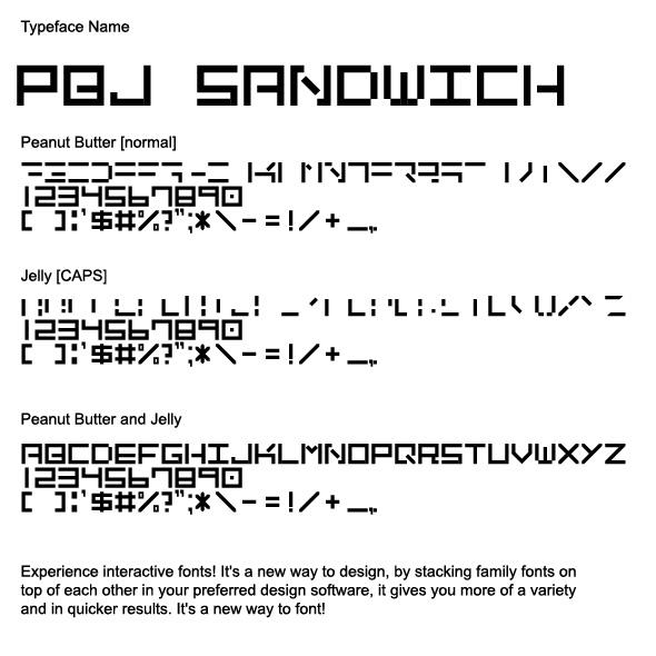 PBJ_Sandwich_Interactive Font - Sans-Serif Fonts