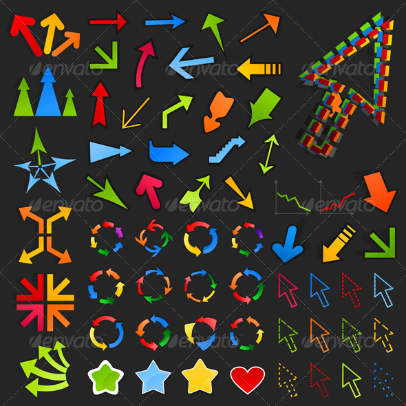 Collection of arrows8 - Web Elements Vectors