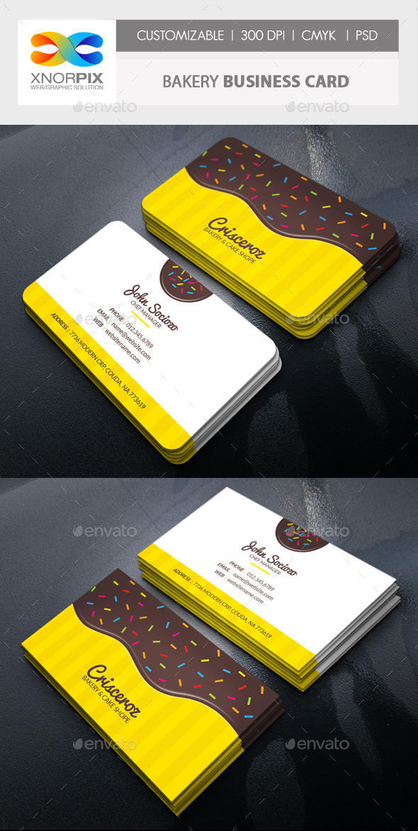 Bakery Business Card - Corporate Business Cards