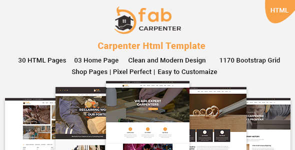Fab Carpenter | Carpenter, Wood Carpentry HTML5 Template