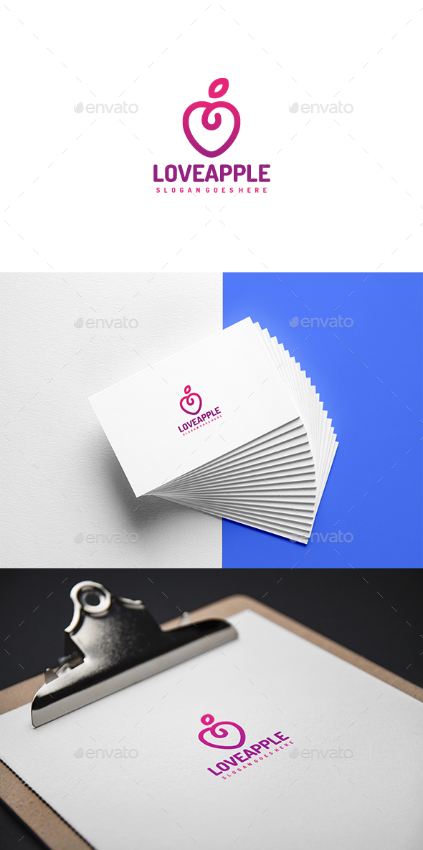 Love Apple Logo - Symbols Logo Templates