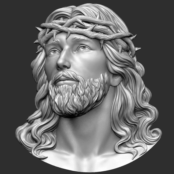 Jesus Head 3d Print model - 3DOcean Item for Sale