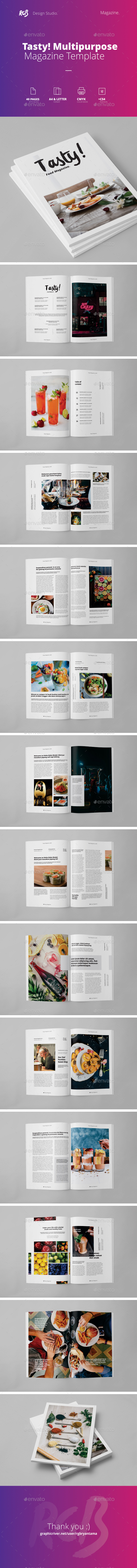 Tasty Magazine - Magazines Print Templates