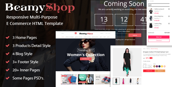 Image of BeamyShop - Responsive Multi-Purpose eCommerce HTML Template