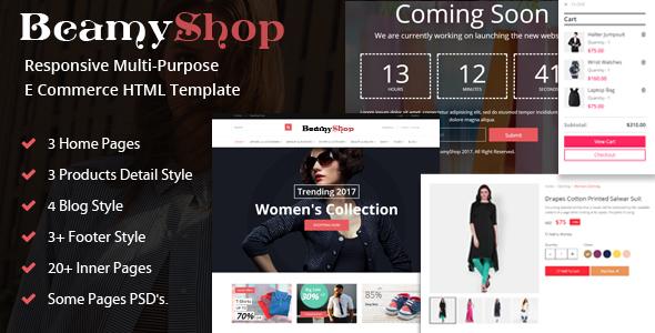 BeamyShop - Responsive Multi-Purpose eCommerce HTML Template - Shopping Retail