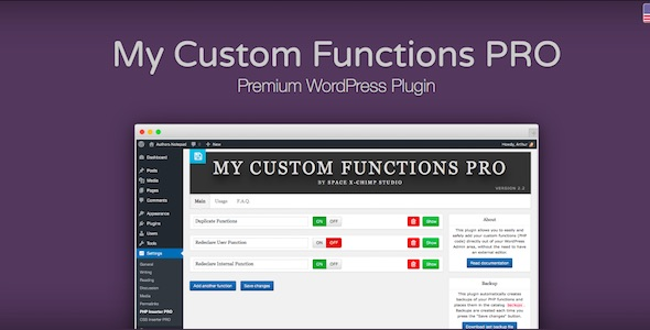 My Custom Functions PRO - CodeCanyon Item for Sale
