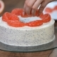 Female Hands Decorate the Cake with Grapefruit - VideoHive Item for Sale