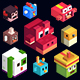 Isometric Game Character Bundle - GraphicRiver Item for Sale