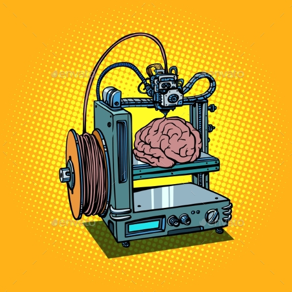 Brain Biotechnology Medicine Printing Human Organs - Health/Medicine Conceptual