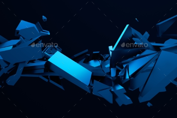Abstract 3D Rendering of Cracked Surface. - Miscellaneous 3D Renders