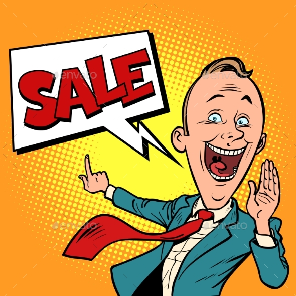 Salesman Businessman Sale - Business Conceptual