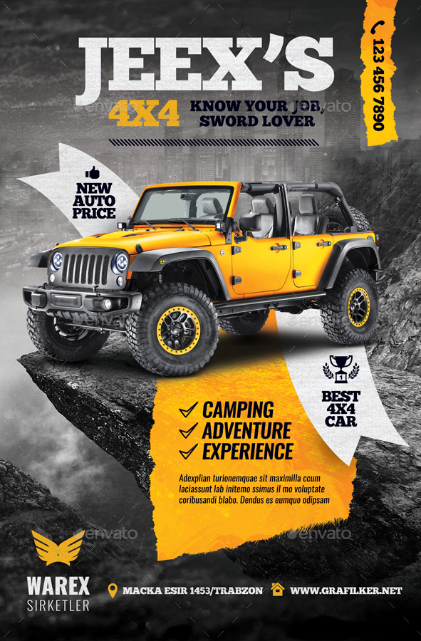 Off-Road Adventure Poster Templates