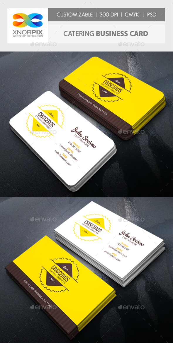 Catering Business Card by -axnorpix | GraphicRiver