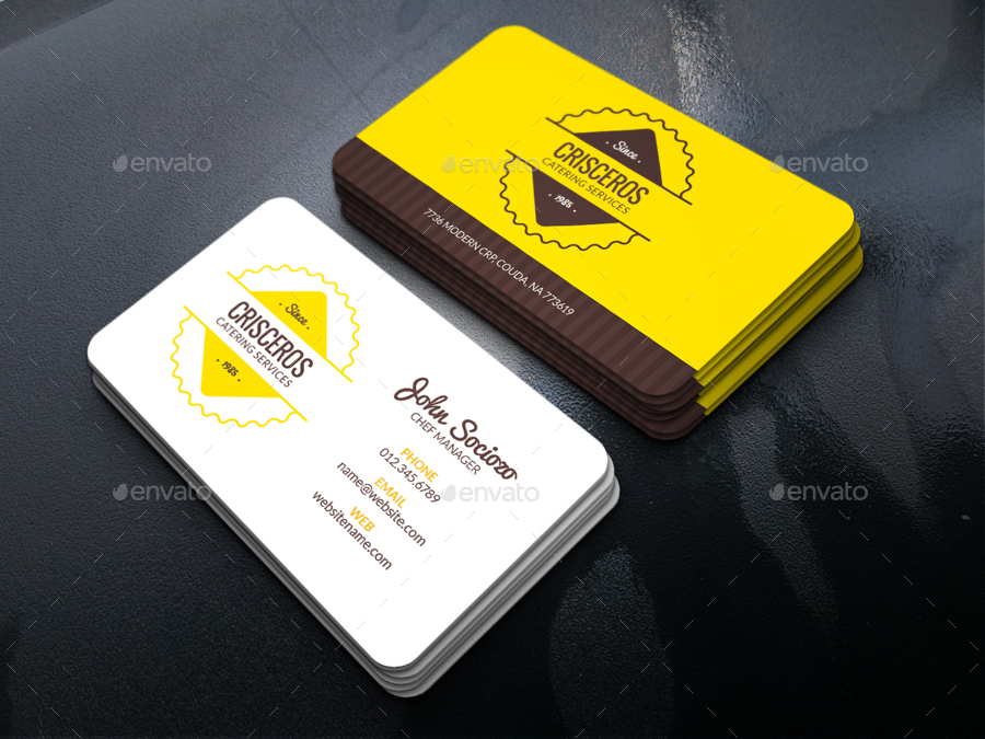 catering business card by