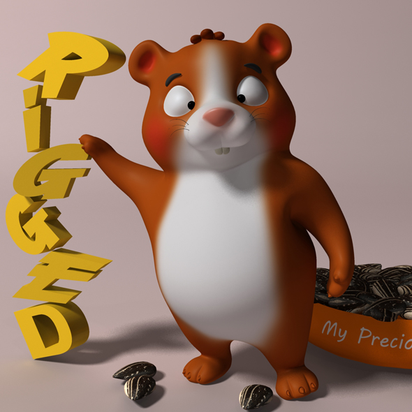 Cartoon hamster RIGGED - 3DOcean Item for Sale