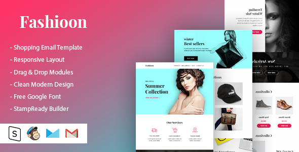 Fashioon - Shopping Email Template Free Download | Nulled
