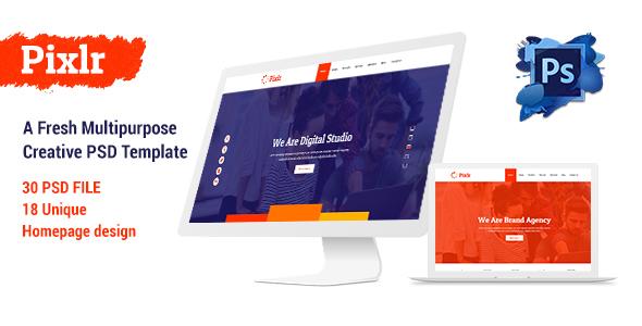 Pixlr - A Fresh Multipurpose Creative PSD Template
