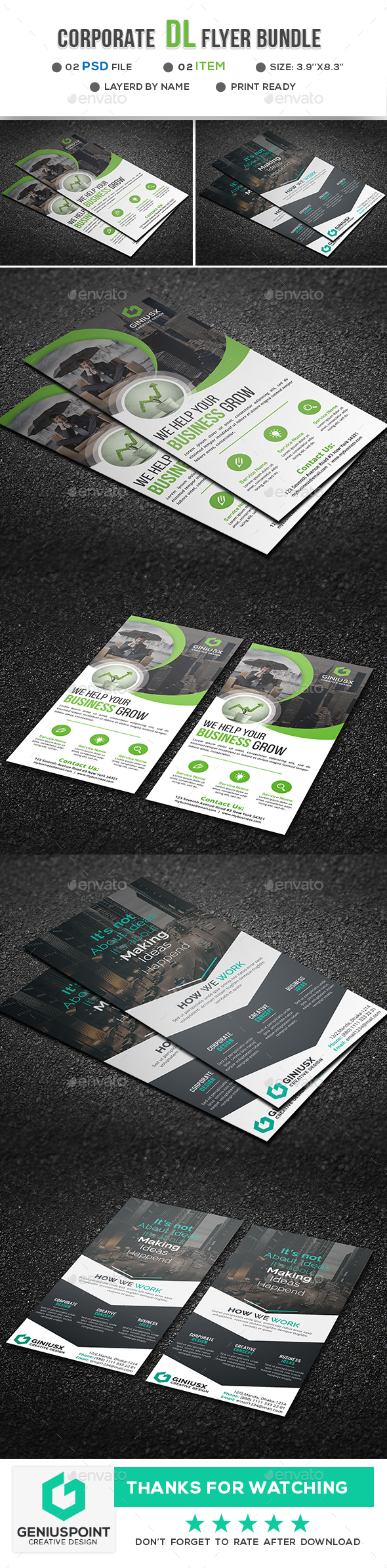 Corporate DL Flyer Bundle - Flyers Print Templates