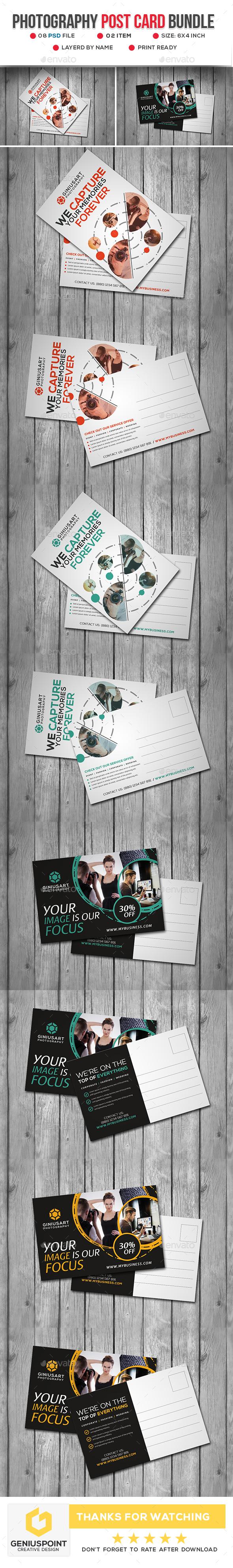 Photography Post Card Bundle - Cards & Invites Print Templates