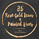 35 Rose Gold Icons - GraphicRiver Item for Sale