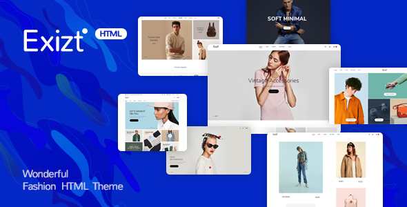 Image of Exist - Wonderful Fashion HTML  Template