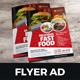 Food Menu Restaurants Flyer Ad Design v3 - GraphicRiver Item for Sale