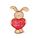 Sketch Rabbit with Heart in his Paws - GraphicRiver Item for Sale
