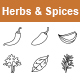Herbs & Spices outlines vector icons - GraphicRiver Item for Sale
