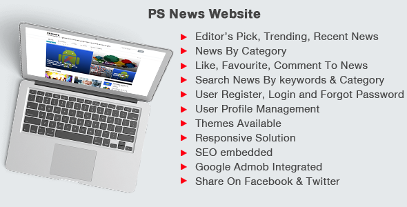 PSNews Website (Same Backend with Mobile Apps)