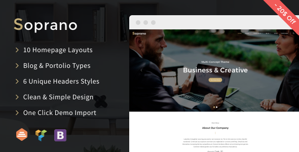 Soprano - Clean Multi-Concept WordPress Theme
