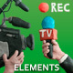 Interview, Camera And Microphone Plasticine (Clay) Elements - VideoHive Item for Sale