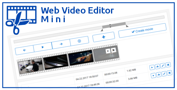 Web Video Editor Mini - CodeCanyon Item for Sale