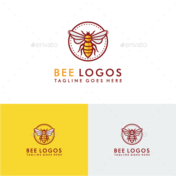 Bee Logo Template - Animals Logo Templates